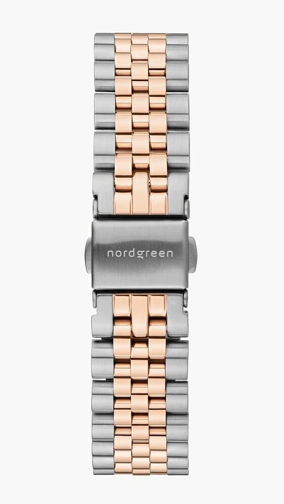 Nordgreen ノードグリーン 2021年9月発売 新色 5リンクブレス シルバーローズゴールド_SI-RG_5-LINK-STRAP