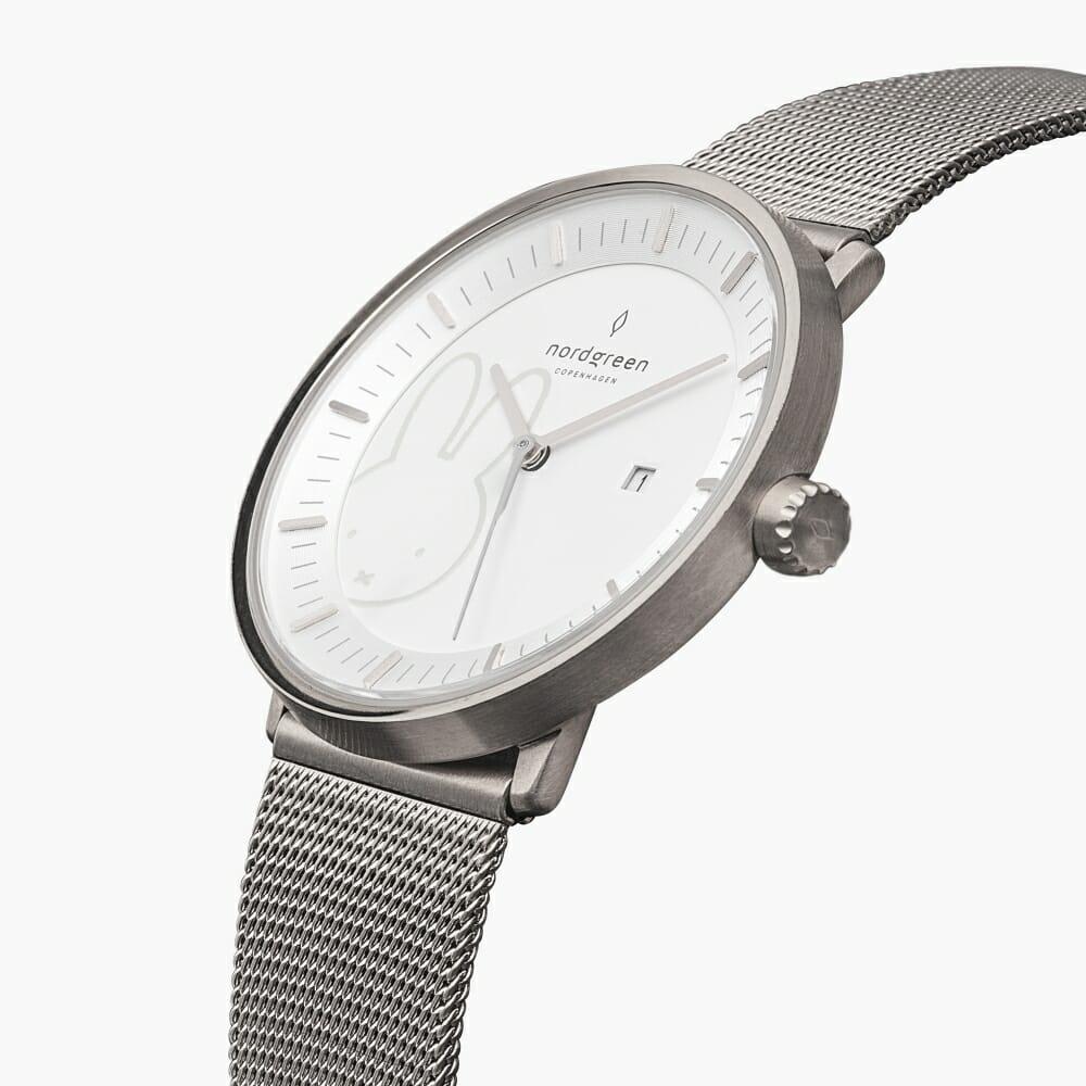 batch_Nordgreen ノードグリーン ミッフィー コラボレーション 腕時計 Philosopher フィロソファ(シルバーメッシュ)Philosopher_SI_Mesh_MIFFY-COLLAB-JP_PV