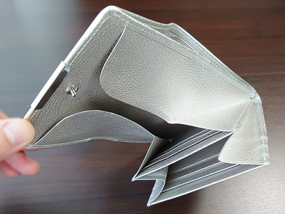 山藤 YAMATOU マルチパーパス サファイアシュリンク SS210500 シーシェルピンク レディース財布 カードポケット チリトリ型小銭入れ6