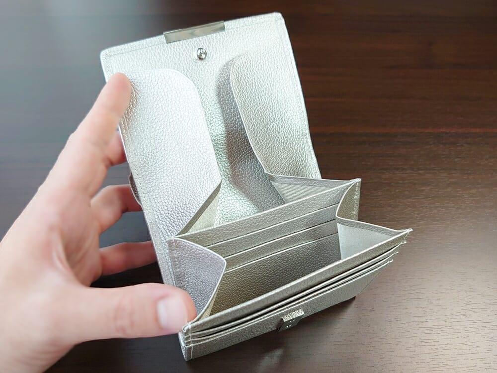 山藤 YAMATOU マルチパーパス サファイアシュリンク SS210500 シーシェルピンク レディース財布 カードポケット チリトリ型小銭入れ2