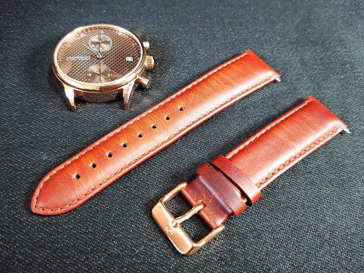 About Vintage アバウトヴィンテージ 1815 Seasar Chronograph ベルト交換