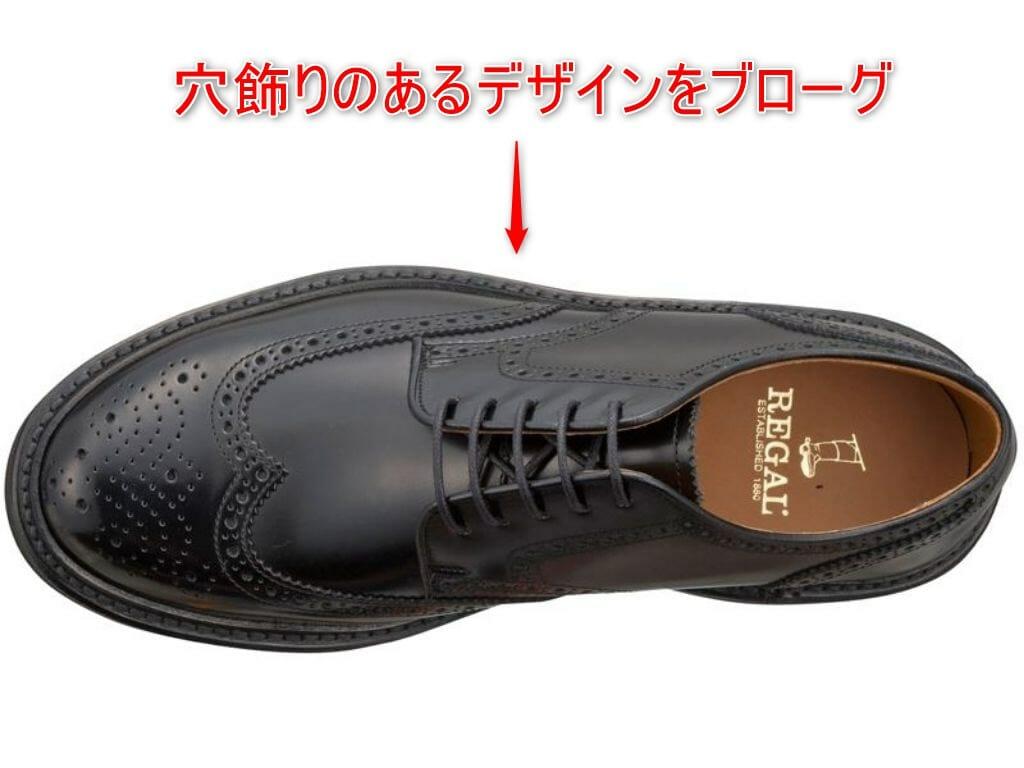 革靴 ブローグの解説