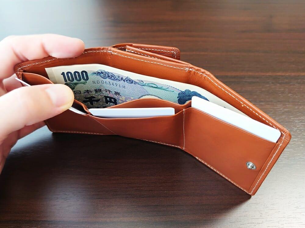 山藤 YAMATOU ミニミニウォレット Tito Alonso ティートアロンソ TA310300 ブラウン メンズ財布 札入れのサイズ感