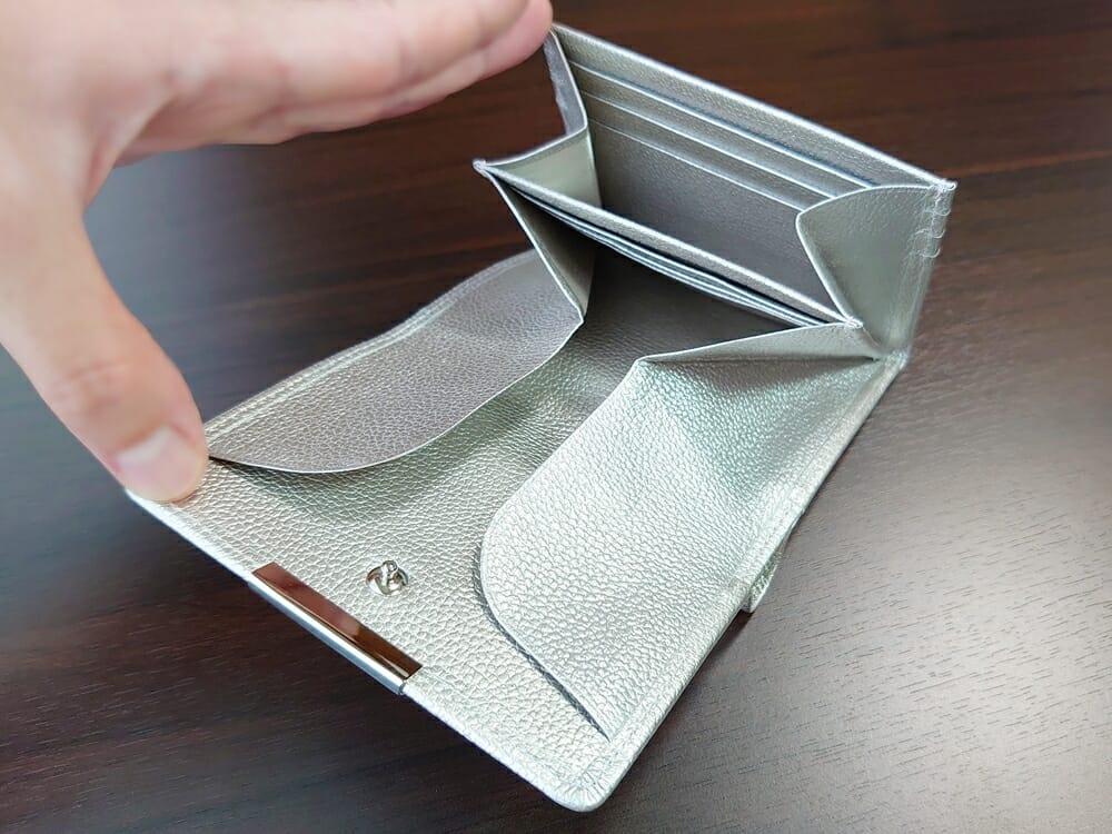 山藤 YAMATOU マルチパーパス サファイアシュリンク SS210500 シーシェルピンク レディース財布 カードポケット チリトリ型小銭入れ5