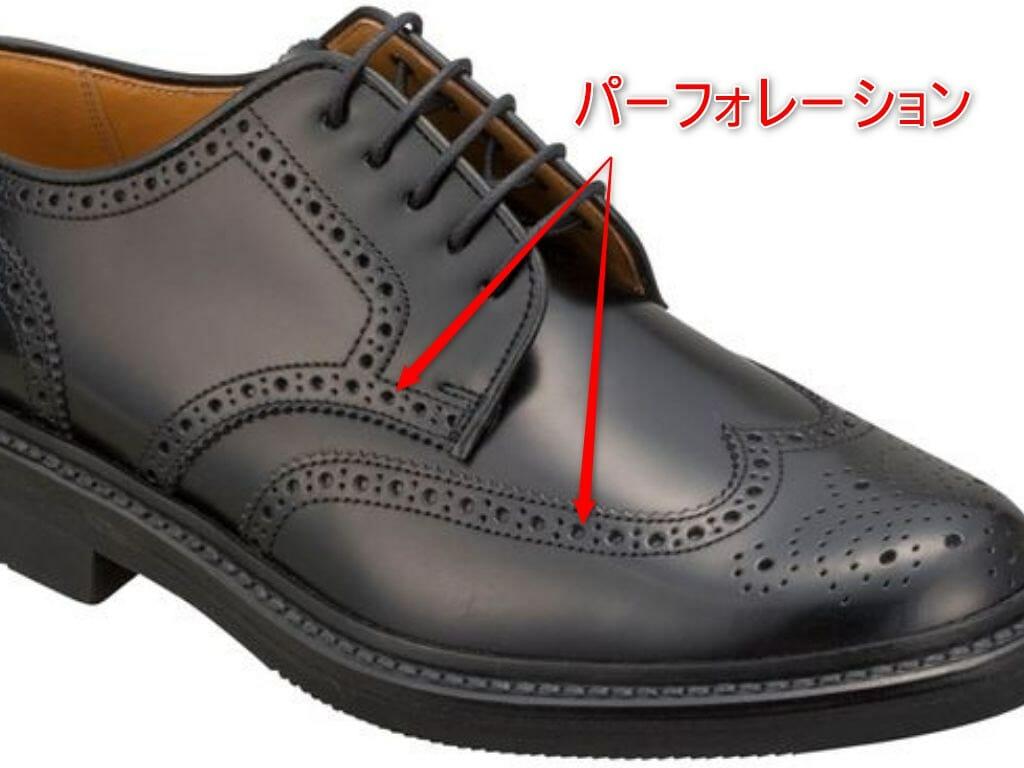 革靴 パーフォレーションの解説