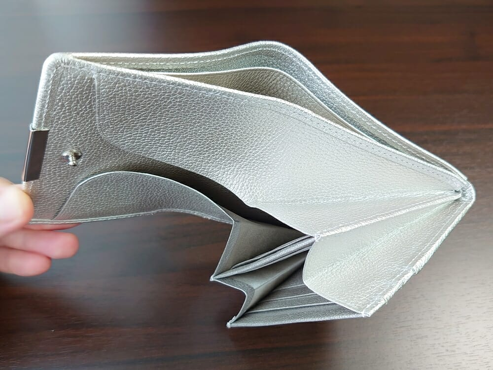 山藤 YAMATOU マルチパーパス サファイアシュリンク SS210500 シーシェルピンク レディース財布 カードポケット チリトリ型小銭入れ7