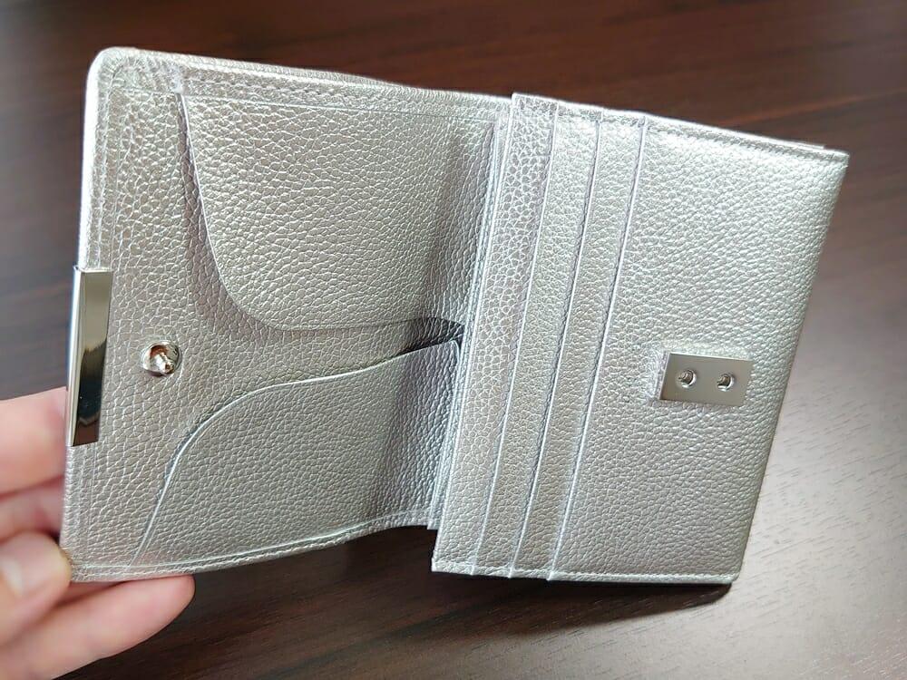 山藤 YAMATOU マルチパーパス サファイアシュリンク SS210500 シーシェルピンク レディース財布 カードポケット チリトリ型小銭入れ8