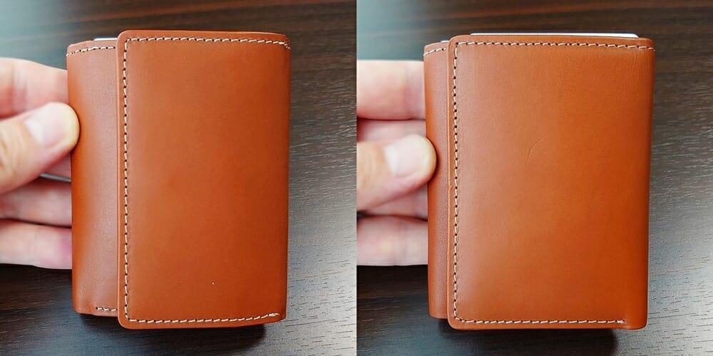 山藤 YAMATOU ミニミニウォレット Tito Alonso ティートアロンソ TA310300 ブラウン メンズ財布 財布を開ける向き 両面を比較