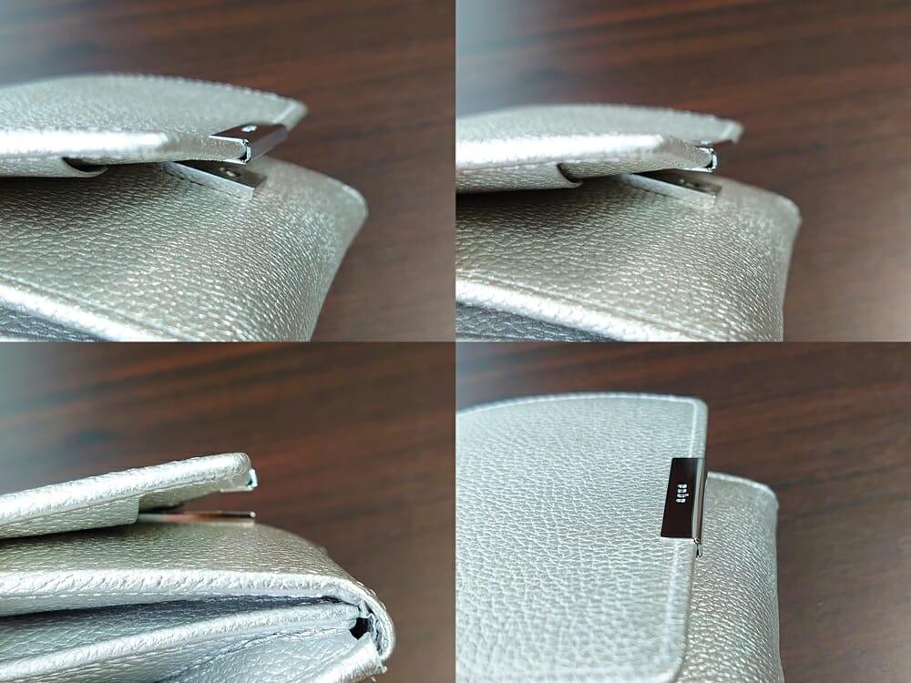 山藤 YAMATOU マルチパーパス サファイアシュリンク SS210500 シーシェルピンク レディース財布 開閉しやすい2段階のスナップボタン 位置