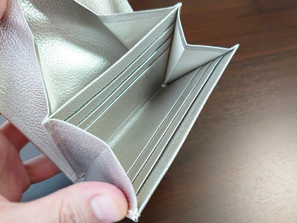 山藤 YAMATOU マルチパーパス サファイアシュリンク SS210500 シーシェルピンク レディース財布 カードポケット チリトリ型小銭入れ3