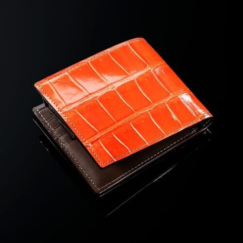 クロコダイル・バトルシップ 二つ折り財布 ファイヤーオレンジ COCOMEISTER(ココマイスター)