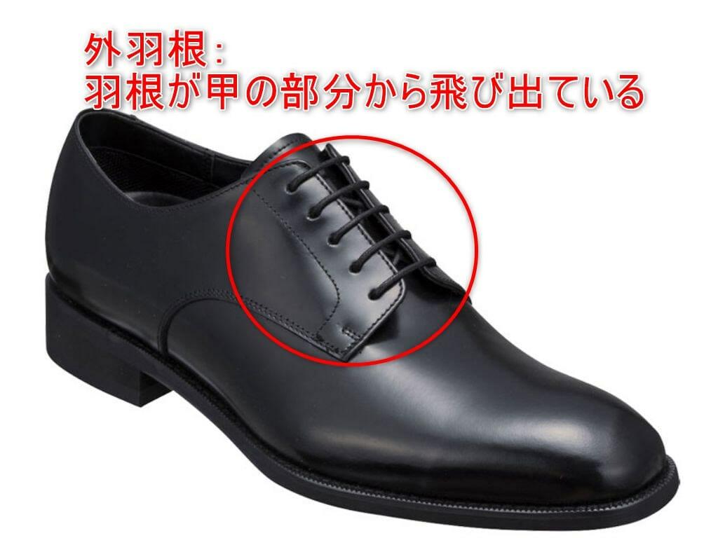 革靴のスタイル外羽根の解説