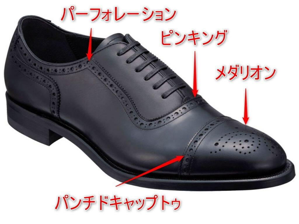 革靴 セミブローグの解説