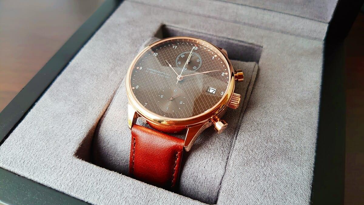 About Vintage アバウトヴィンテージ 1815 Seasar Chronograph Rose gold Brown Seasar 143本 数量限定
