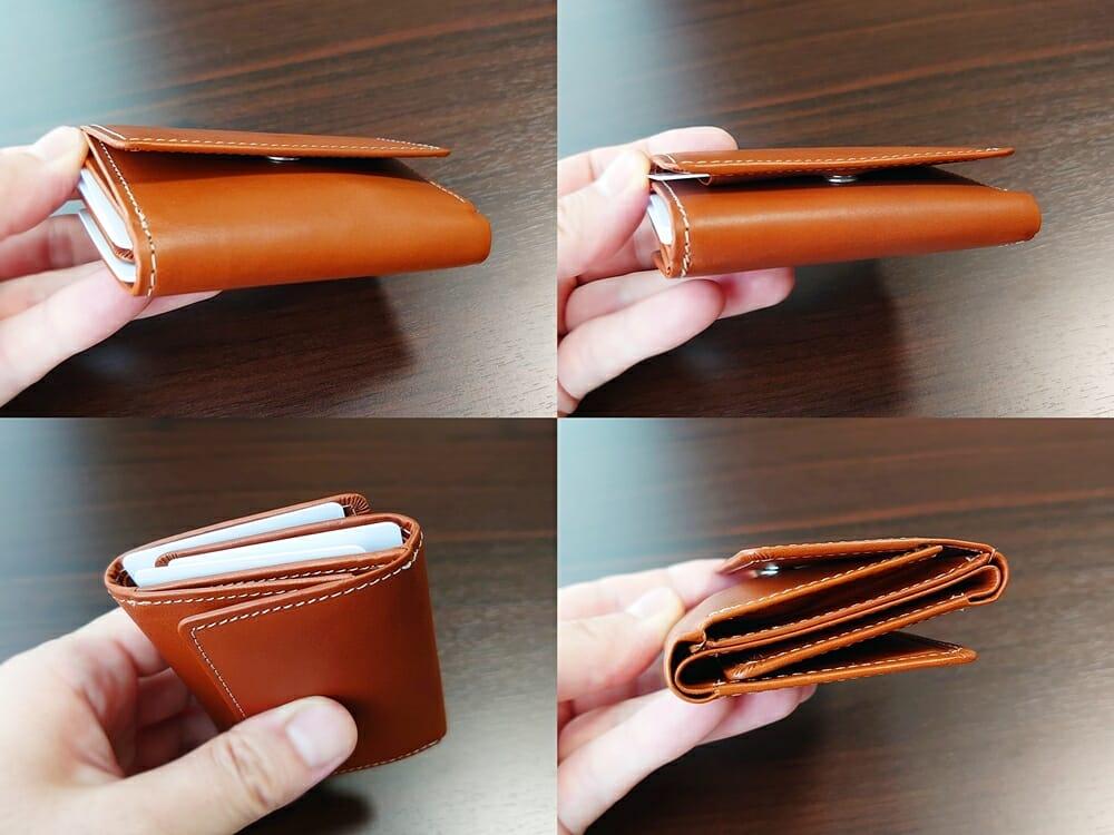山藤 YAMATOU ミニミニウォレット Tito Alonso ティートアロンソ TA310300 ブラウン メンズ財布 お金とカードを入れた財布の厚み2