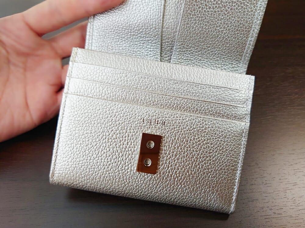 山藤 YAMATOU マルチパーパス サファイアシュリンク SS210500 シーシェルピンク レディース財布 カードポケット チリトリ型小銭入れ1