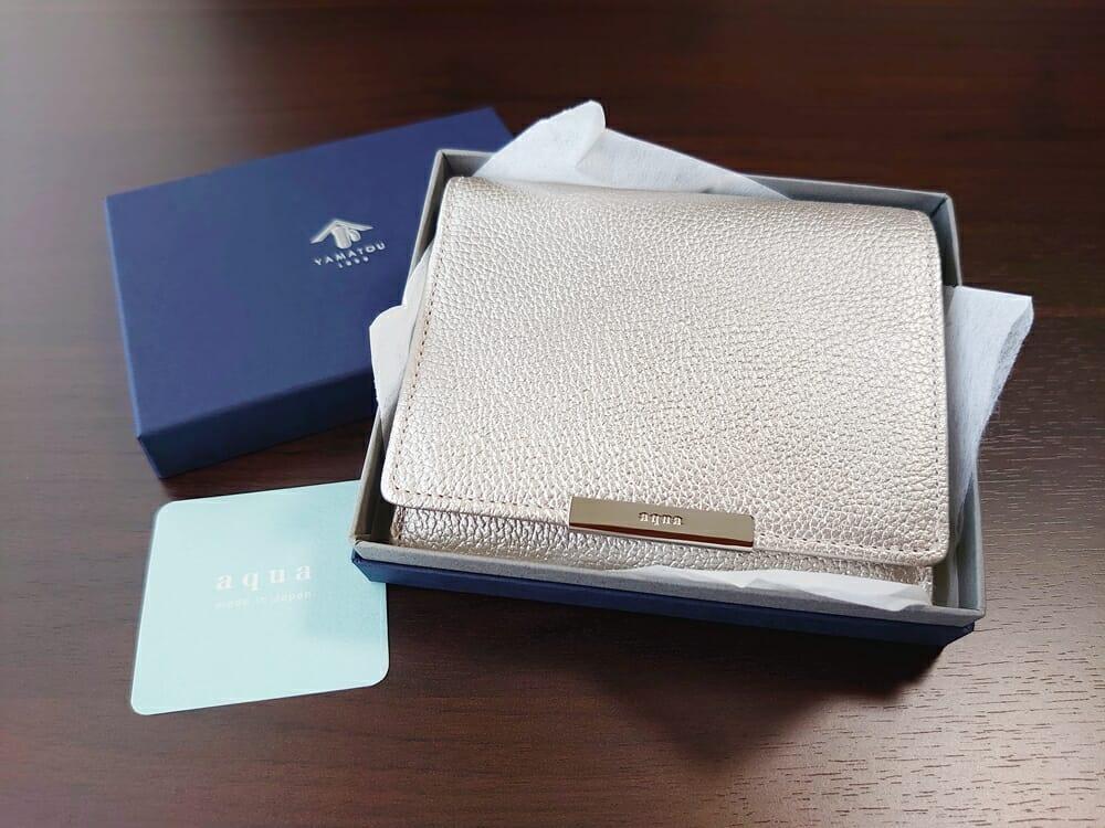 山藤 YAMATOU マルチパーパス サファイアシュリンク SS210500 シーシェルピンク レディース財布 レビュー パッケージング