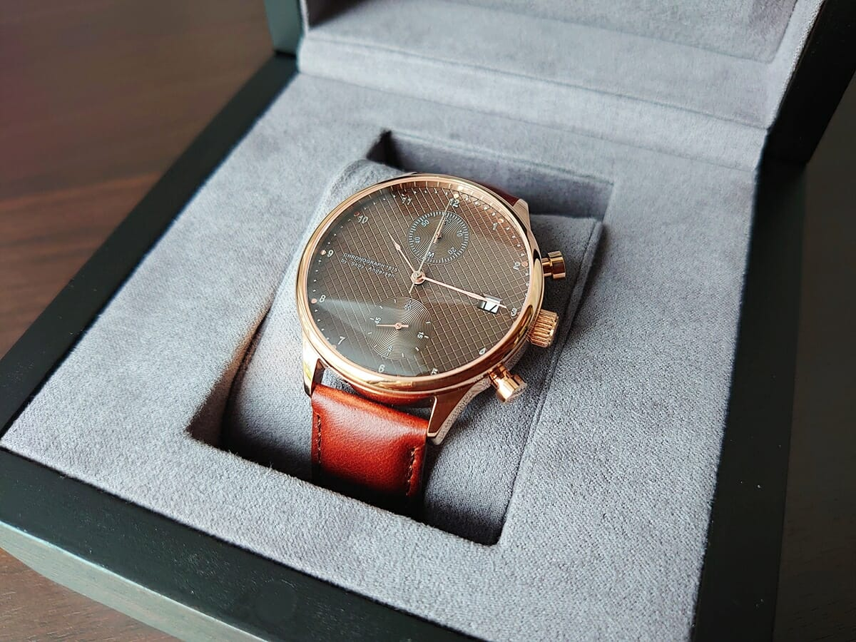 About Vintage アバウトヴィンテージ 1815 Seasar Chronograph Rose gold Brown Seasar 数量限定モデル デザイン