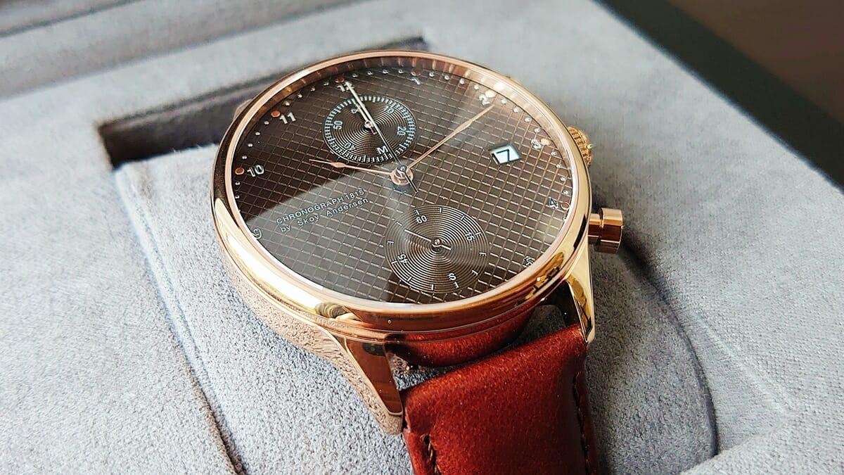 About Vintage アバウトヴィンテージ 1815 Seasar Chronograph Rose gold Brown Seasar 143本の数量限定