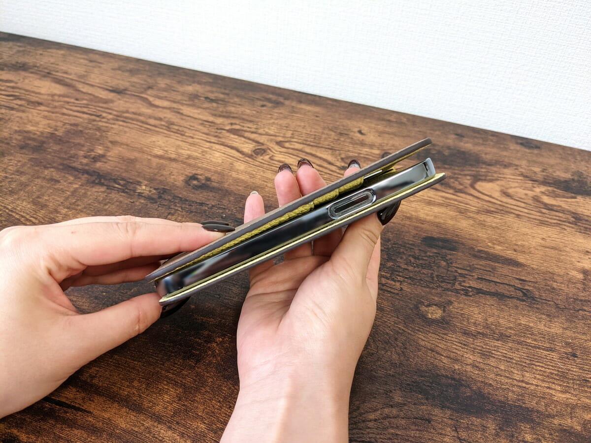 ボナベンチュラiPhoneケース サイドボタン