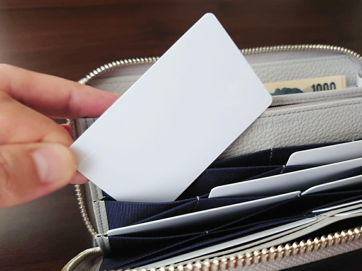 キプリス(CYPRIS)ラウンドファスナーハニーセル長財布(カスタムオーダー)ハニーセルカード入れの使い心地4