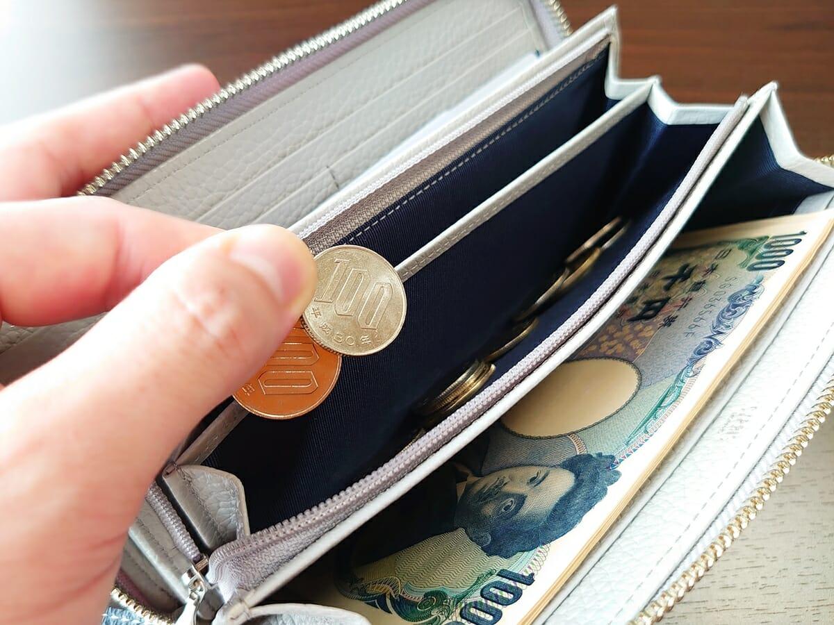 キプリス(CYPRIS)ラウンドファスナーハニーセル長財布(カスタムオーダー)小銭入れの使い心地4