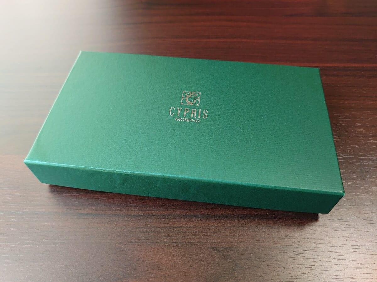 キプリス(CYPRIS)ラウンドファスナーハニーセル長財布(カスタムオーダー)外箱