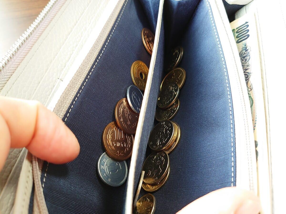 キプリス(CYPRIS)ラウンドファスナーハニーセル長財布(カスタムオーダー)小銭入れの使い心地1