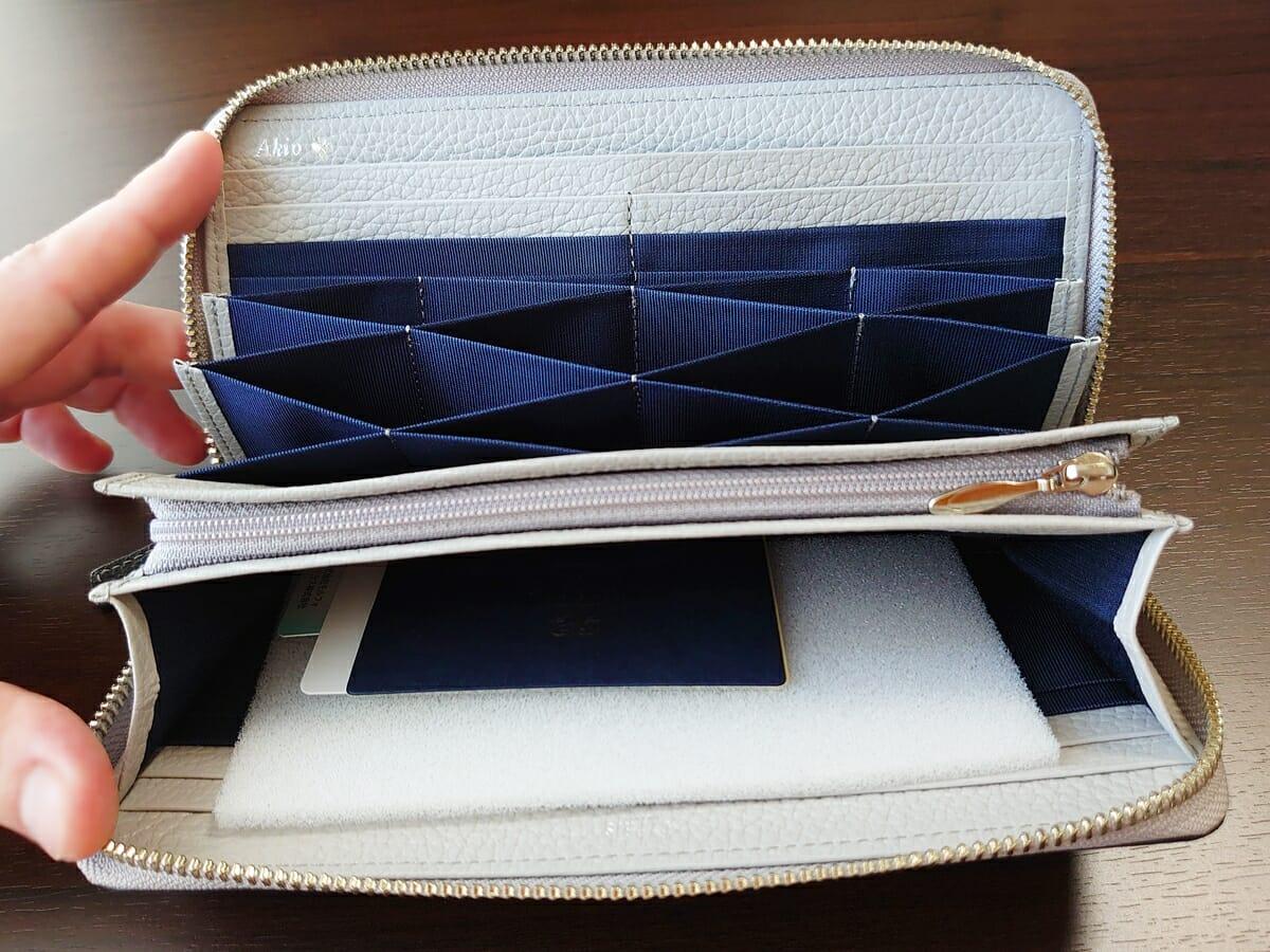 キプリス(CYPRIS)ラウンドファスナーハニーセル長財布(カスタムオーダー)内装デザイン 小銭入れ 閉じた状態