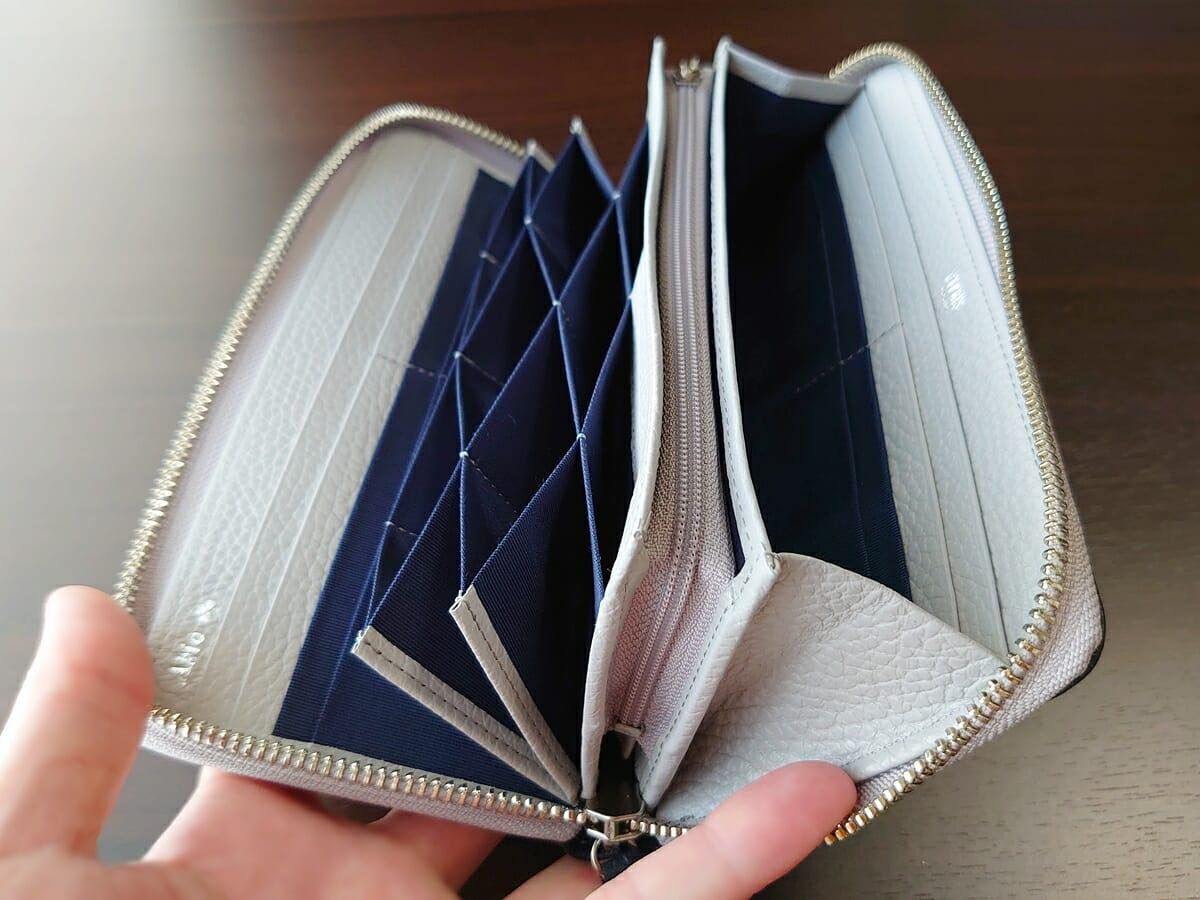 キプリス(CYPRIS)ラウンドファスナーハニーセル長財布(カスタムオーダー)財布開き具合 小銭入れ閉じた状態